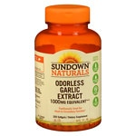 Sundown Naturals Odorless Garlic 1000mg, Softgels- 250 ea