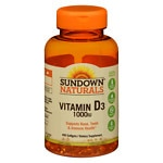 Sundown Naturals Vitamin D3 1000 IU, Softgels