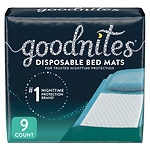 Goodnites Disposable Bed Mats- 9 ea