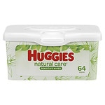 Huggies Natural Care Baby Wipes, Tub, Fragrance Free