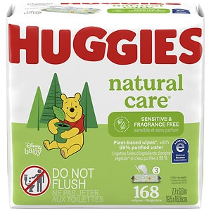 Huggies Natural Care Baby Wipes, 3 pk, Fragrance Free