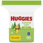 Huggies Natural Care Baby Wipes, Refill Pack, Fragrance Free- 184 ea
