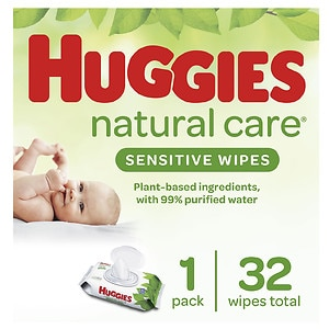 Huggies Natural Care Baby Wipes, Soft Pack, Fragrance Free