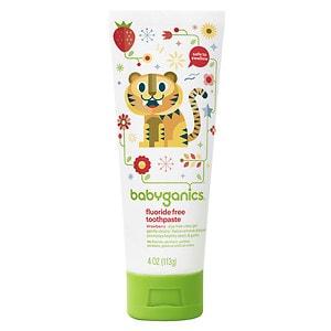 Babyganics Fluoride Free Toothpaste, Strawberry- 4 oz
