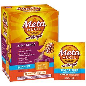Metamucil Smooth Sugar Free Powder Packets, Orange, 44 pk- .21 oz