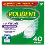 Polident Partials, Antibacterial Denture Cleanser