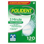 Polident 3 Minute, Antibacterial Denture Cleanser