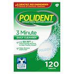 Polident 3 Minute, Antibacterial Denture Cleanser- 120 ea