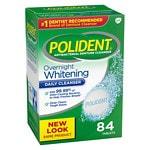 Polident Overnight Whitening, Antibacterial Denture Cleanser,
