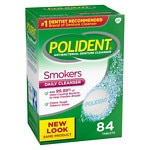 Polident Smokers, Antibacterial Denture Cleanser, Bonus Pack, Triple Mint Freshness- 84 ea