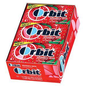 Orbit Sugar Free Gum, Strawberry Remix, 12 pk