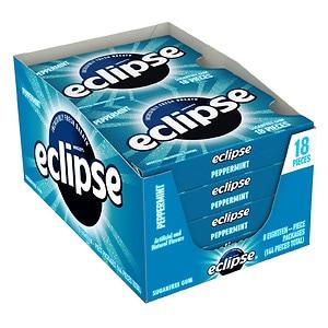 Eclipse Sugar Free Gum, Peppermint, 8 pk