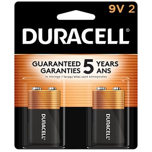 Duracell Alkaline Batteries Coppertop, 9V