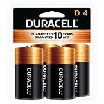 Duracell Coppertop Alkaline Batteries, D