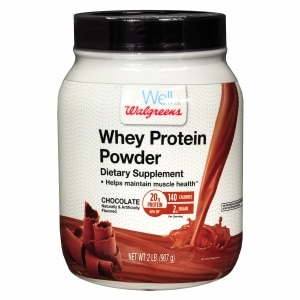 Walgreens Whey Protein Chocolate, Chocolate- 32 oz