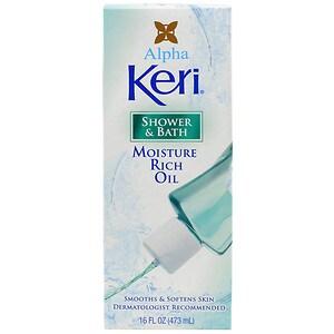 Alpha Keri Shower and Bath Moisture Rich Oil, 16 fl oz