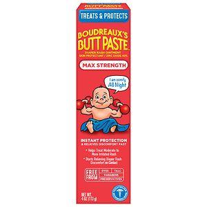 Boudreaux's Buttpaste, Maximum Strength- 4 oz