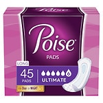 Poise Pads, Ultimate Absorbency, Absorption Supreme, Long Length