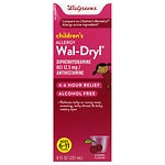 Walgreens Wal-Dryl Children's Allergy, Liquid, Cherry- 8 fl oz
