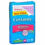 Walgreens Certainty Women's Underwear, Small/Medium