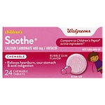 Walgreens Soothe Children'S Bubblegum Chewable Tablets