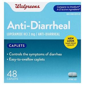 Walgreens Anti-Diarrheal, Capsules, 48 ea