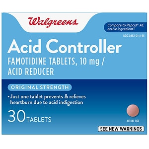 Walgreens Famotidine 10Mg Tablets