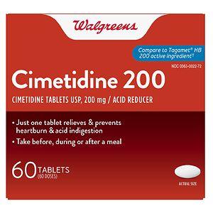 Walgreens Cimetidine 200Mg- 60 ea