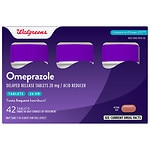 Walgreens Omeprazole Acid Reducer, 20mg Tablets- 42 ea