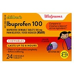 Walgreens Junior Strength Ibuprophen Chewables, Grape