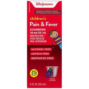 Walgreens Acetaminophen Child Grape Suspension 80Mg, 4 fl oz
