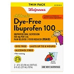 Walgreens Ibuprofen 100Mg Child Dye Free Berry Suspension 2 Pack
