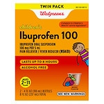 Walgreens Ibuprofen 100Mg Child Berry Suspension Twin Pack