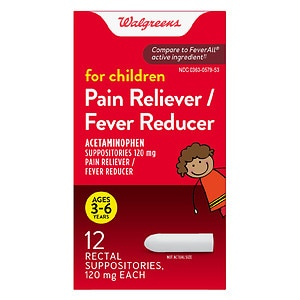 Walgreens Children's Fever Reducer Rectal Suppositories- 12 ea