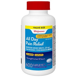Walgreens All Day Pain Relief 220Mg Caplets, 600 ea