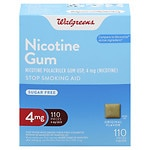 Walgreens Nicotine Gum, 4 mg, Original