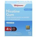 Walgreens Nicotine Gum, 4mg, Original- 110 ea