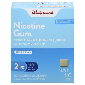 Walgreens Nicotine Gum, 2mg, Original- 110 ea