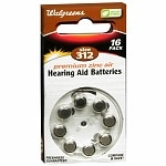 Walgreens Hearing Aid Batteries, Zero Mercury, #312