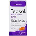 Feosol Bifera HIP & PIC Iron, Complete, Capsules- 30 ea