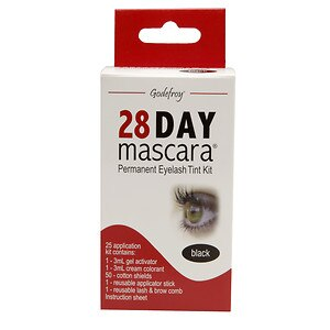 Godefroy 28 Day Mascara Permanent Eyelash Tint Kit, Black- 1 kit