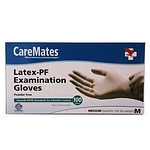 CareMates Latex-Powder Free Examination Gloves, Medium