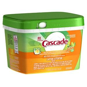 Cascade ActionPacs Dishwasher Detergent, Gain
