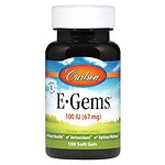 Carlson E-Gems Natural Vitamin E 100 IU, Softgels