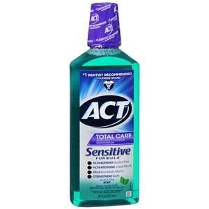 ACT Sensitive Care Anticavity Fluoride Rinse, Mint- 18 fl oz