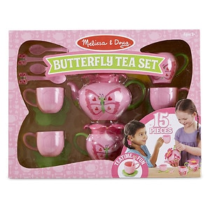 Melissa and Doug Bella Butterfly Tea Set, Ages 3+