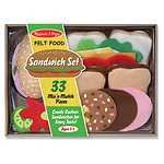 Melissa and Doug Felt Food Sandwich Set Ages 3+