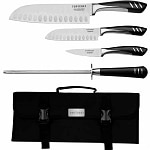 Top Chef 5 Piece Stainless Steel Knife Set - Portable