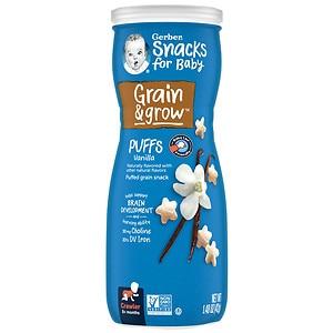 Gerber Graduates Puffs Cereal Snack, Vanilla- 1.48 oz