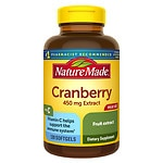 Nature Made Super Strength Cranberry 450mg Extract, Softgels- 120 ea